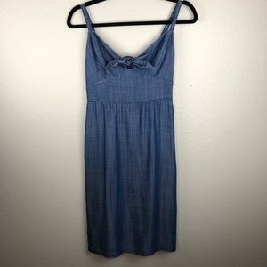 Tommy Bahama Front Knot Blue Dress Small